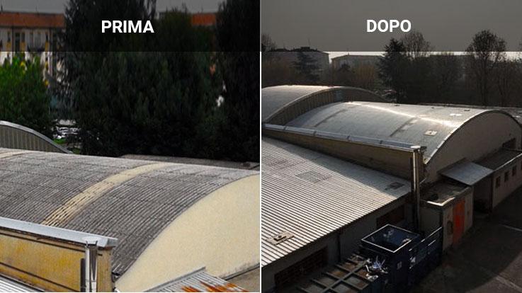 Smaltimento amianto tetti